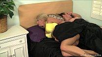 Blonde pornstar Laela Pryce gives boss handjob ...