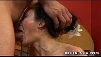 Asian milf getting her ass hole ravaged