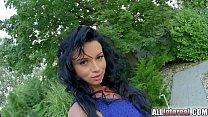 AllInternal Anal creampie for hot brunette who ...