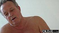 Young Girl Vs Old Man - Skinny Teen taking faci...