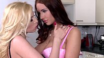 Busty lovers Donna Bell and Kyra Hot play with ...