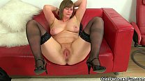 British milfs April and Red take a masturbation... Thumbnail