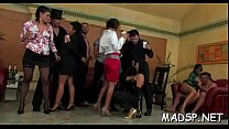 Delightful sluts have a fun a monster cock feast at a sex party