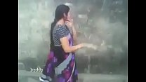 indian hot aunty in saree outdoor suck and boob...