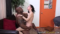 Aria Alexander Tempts Her Black Trainer Into Fu...