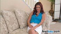 Red Haired MILF Strips And Masturbates