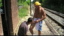 i fuck a twink outdoor in public rail train Thumbnail