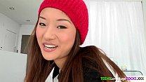 Bigcock loving asian teen facialized Thumbnail