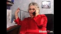 Huge Tits BBW Granny In Stockings Fucks A Young...