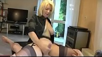 Mom Wanks Dad off in Stockings and Heels. See p...