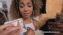 Sucked at fashion store by broke ebony teen