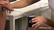 Download video bokep Piss Play For Horny Couple In The Office 3gp terbaru