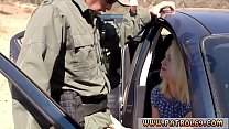 Black cock cop and xxx pawn police officer Blonde stunner does it on