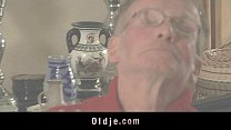 Pervert grandpas double penetrates young blonde