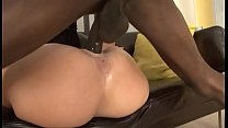 Hot blonde milf squirts hard on massive black cock