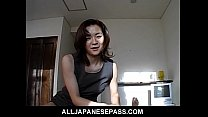 Gorgeous Japanese MiLF in an office suit sucks ...