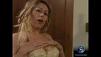 Bosomy Antonella del Lago playing with her sex toy beside the fireplace Thumbnail