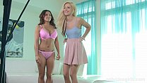 Shy blonde amateur gets lessons from a master