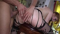 Busty redhead zappered and anal fucked bdsm