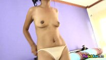 Cute Shy Thai Girl Gets Naked