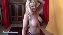 Czech MILF with big boobs does BJ, handjob and ...