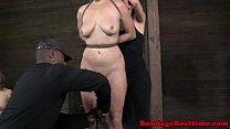 Pierced pussy sub getting handled Thumbnail