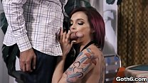 Sexy redhead babe Anna Bell Peaks bangs with an...