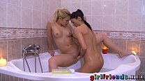 Girlfriends Tight teens shave each other and ma...