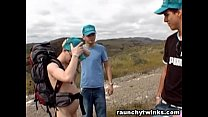 Nudist Hiker Gets Blown By A Lost Dude In The Wild Thumbnail