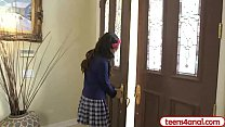 Virgin teen opens her backdoor so she stays a t...
