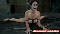 BDSM - Suspension, bonded and wide spread legs,...