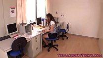 Japanese teen secretary gets toyed at work Thumbnail