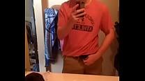 teen strip tease infrontvof mirror
