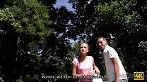HUNT4K. Fast ihre Geldbörse verloren, aber verrückten Sex gefunden