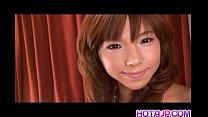 Serina Hayakawa has fun with vibrator in cunt