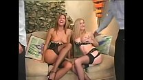 Two buddies have foursome with blonde MILFs Monica Sweetheart and Michelle B
