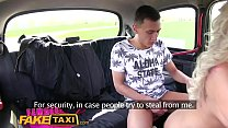 FemaleFakeTaxi Busty blonde fucked and facialis...
