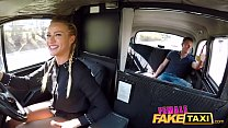 Female Fake Taxi Horny blonde driver Cherry Kis...