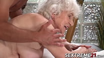 Horny granny Norma needs young hard cock on a m... Thumbnail