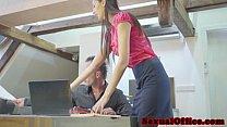 Skinny czech secretary shagging her boss