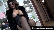 PantyHosed Texas Cougar Deauxma Gives A Hard Co...
