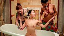 xCHIMERA - Asian cutie Katana handjob, pussy li...