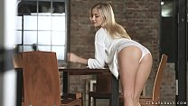 Hot blonde Cayla Lyons on a big cock Thumbnail