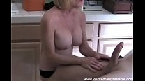 Amateur GILF Happy Handjob