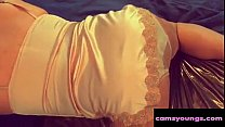 Booty in Gold Satin Lingerie and Panties, Porn 0d: Thumbnail