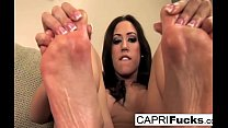 Capri not only plays with her wet pussy but als...