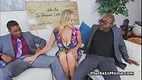 MILF wins cash and big black cocks
