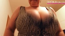 BBW Kristy huge natural tits (spy)