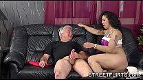 Brunette German amateur babe fucks pervert cast... Thumbnail