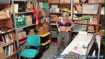 Teen thief spunked over Thumbnail